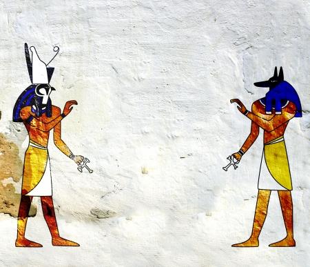 horus: con imágenes de dioses egipcios - Anubis y Horus