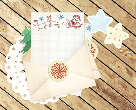 dear: Letter to Santa Claus. Horizontal background Stock Photo