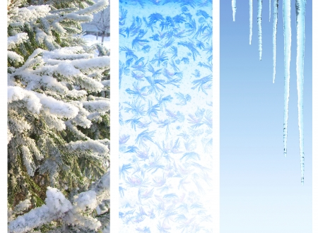 icily: Collection of vertical winter banners