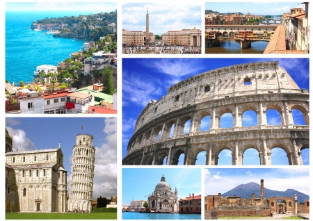 leaning tower of pisa: Collection - famous places of Italy