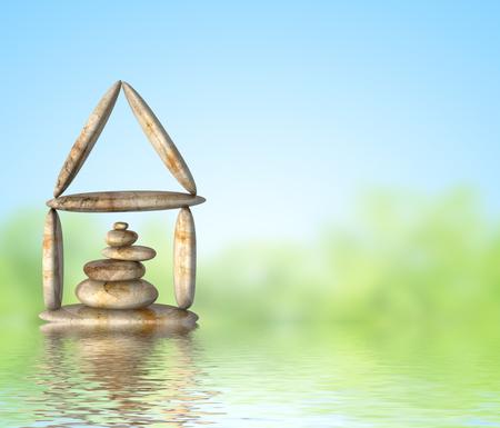 Home - schoonheid van de natuur Stockfoto