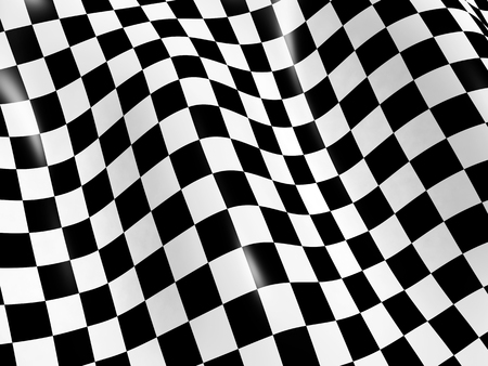 Sports background - abstract checkered flag photo