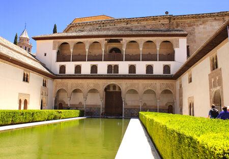 granada: Patio in Alhambra, Granada, Spain