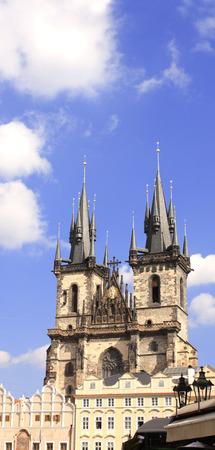 tyn: Old Town Square, Tyn Church, Prague, Czech Republic