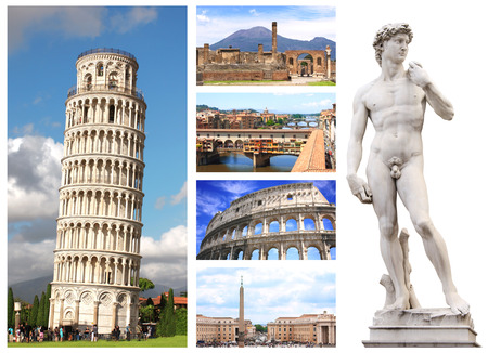 Collection - famous places of Italy photo