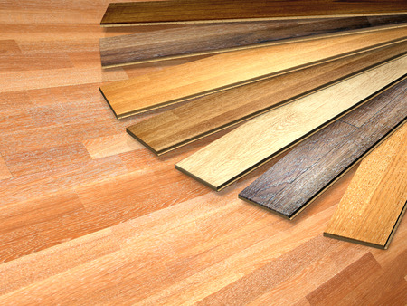New oak parquet of different colors Stock Photo