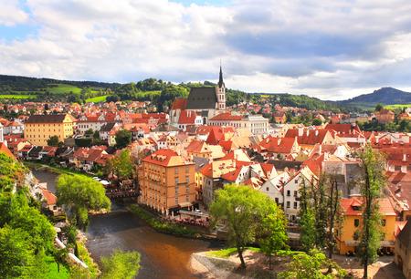 r�publique  tch�que: Vue du vieux boh�mien ville de Cesky Krumlov, R�publique tch�que Banque d'images