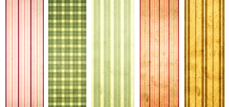Collection of grunge banners with striped pattern and paper texture photo