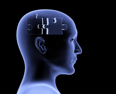 attach: Cerebro en forma de rompecabezas