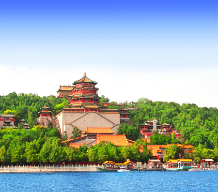 Imperial Summer Palace in Beijing, China 版權商用圖片