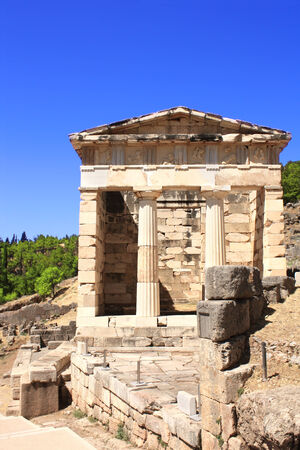 athenians: Athenian treasury in Delphi, Greece