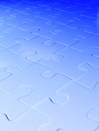 Abstract background from puzzle of blue color photo
