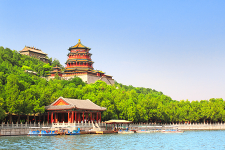 Imperial Summer Palace in Beijing, China 写真素材