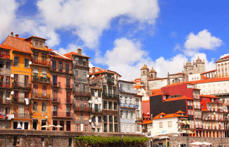 Houses in old part of Ribeira, Porto, Portugal photo