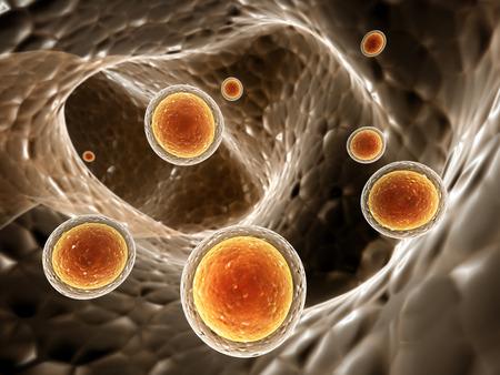 Colony of pathogen viruses - 3d render 版權商用圖片