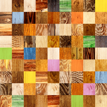 wooden texture: Seamless background with wooden patterns of different colors