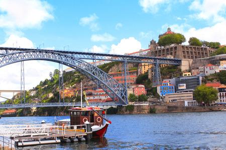 rabelo: Bridge Maria Pia and Douro river, Porto, Portugal