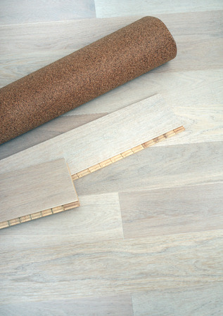 substrate: New oak parquet and soundproof cork substrate