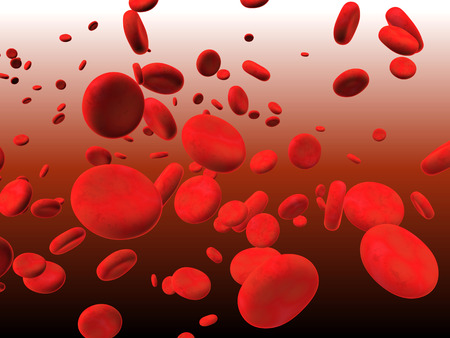erythrocytes: Blood. Many red erythrocytes, floating on an artery Stock Photo