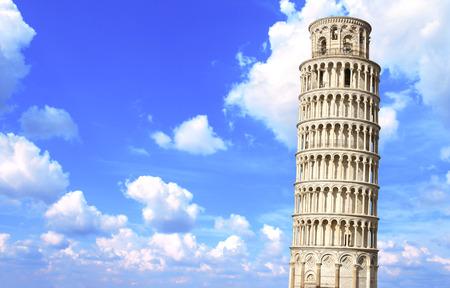 leaning tower of pisa: Leaning Tower of Pisa in Italy Stock Photo