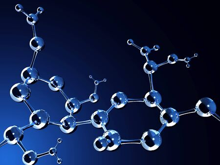 whitem: Abstract molecular structure. Isolated on white background