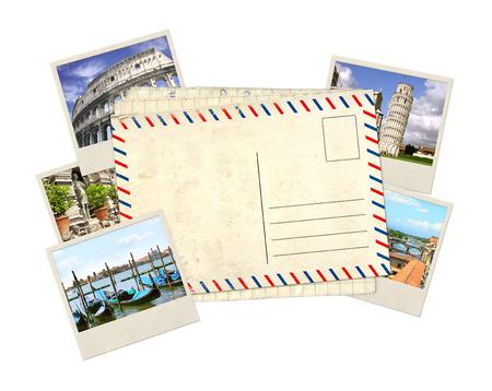 Souvenirs de carte et les photos de poste, Italie, Vieux