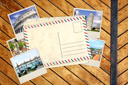 Souvenirs de carte et les photos de poste, Italie, Vieux Banque d'images