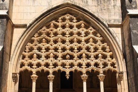 vitoria: Carvings in Santa Maria da Vitoria monastery, Batalha, Portugal Stock Photo