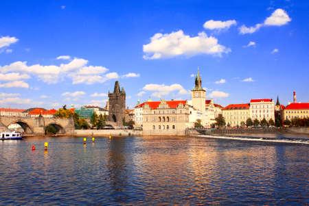 citytrip: Charles Bridge in Prague, Czech republic Stock Photo