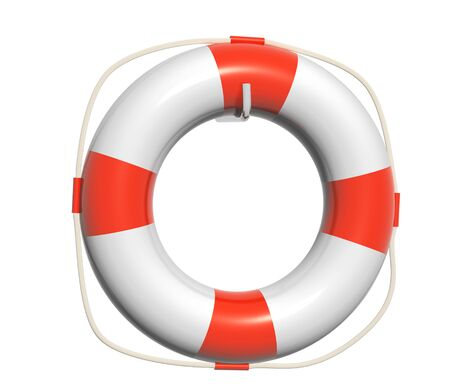 the precaution: 3d lifebuoy. Object isolated on white background