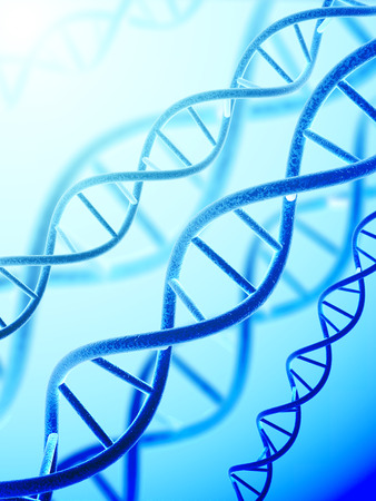 guanine: Digital 3d model of DNA structure Stock Photo