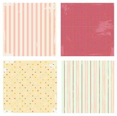 patched: Collection of vector backgrounds in retro style