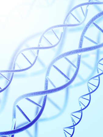 Digital 3d model of DNA structure Stock Photo