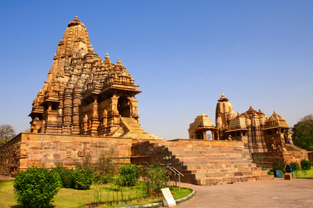 kamasutra: Kandariya Mahadeva Temple in Khajuraho, Madya Pradesh, India Stock Photo