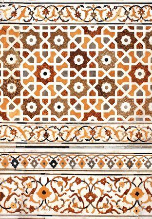 inlay: Ancient decorative mosaic on marble, India Stock Photo