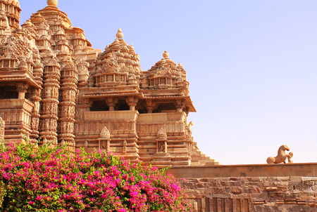 templo: Devi Jagdambi Templo, Templos occidental en Khajuraho, Madya Pradesh, India