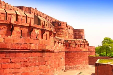 uttar: Red Fort in Agra, Uttar Pradesh, India
