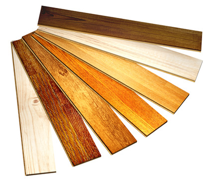 parkett: New oak parquet of different colors. Isolated on white background