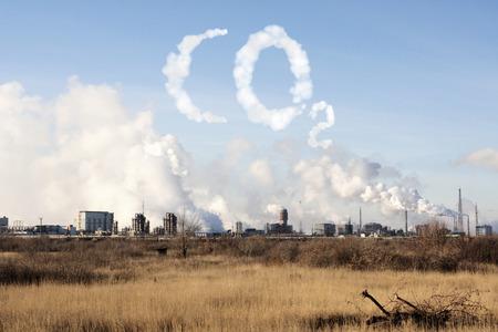 Problemen van ecologie - milieuverontreiniging Stockfoto