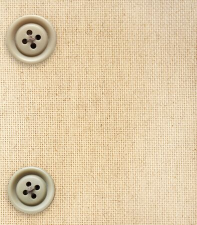Background with canvas texture and buttons photo