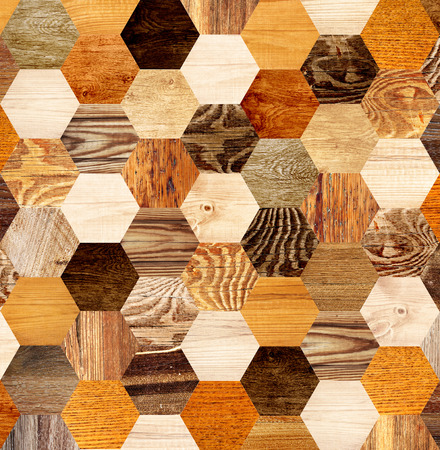 Background with wooden patterns of different colors photo