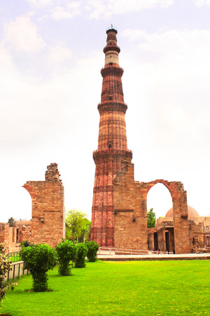 quitab: Qutub-Minar Tower, New Delhi, India.  UNESCO World Heritage