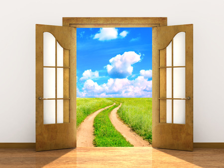 door opening: Conceptual image - a way to freedom