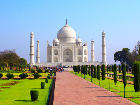 love dome: Taj Mahal mausoleum in Agra, India