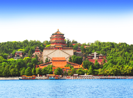 beijing: Imperial Summer Palace in Beijing, China Stock Photo
