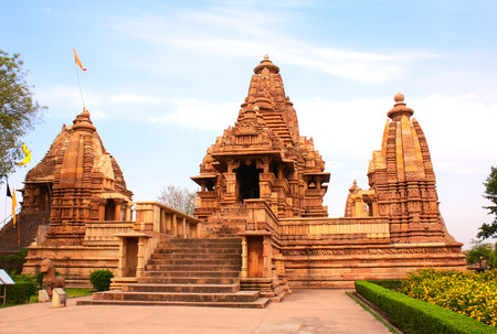 hindu temple: Lakshmana temple, built by Chandela Rajputs, is situated in the Western Group of temples, Khajuraho, Madhya Pradesh, India.