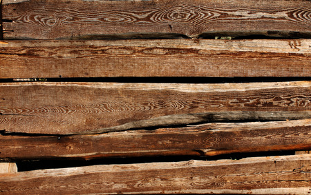 Texture - old wooden boards of brown color Stock Photo