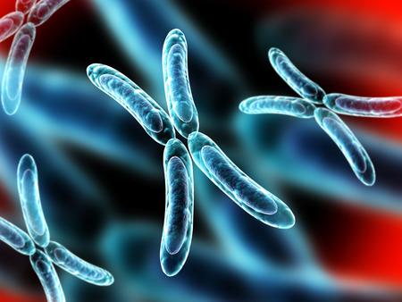 chromosome: X chromosome on abstract background