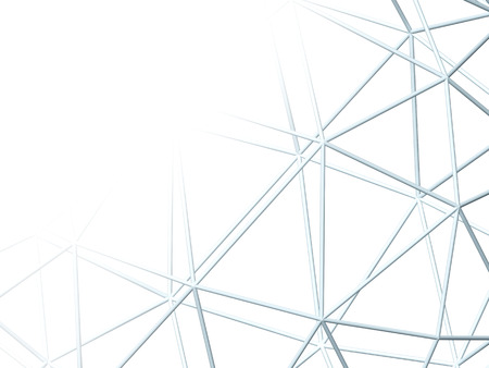 lattice: Abstract white background with 3d lattice