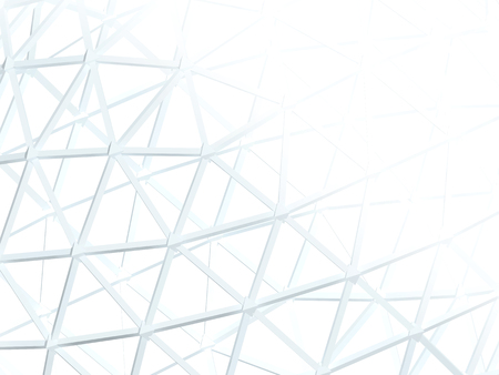 white abstract: Abstract white background with 3d lattice